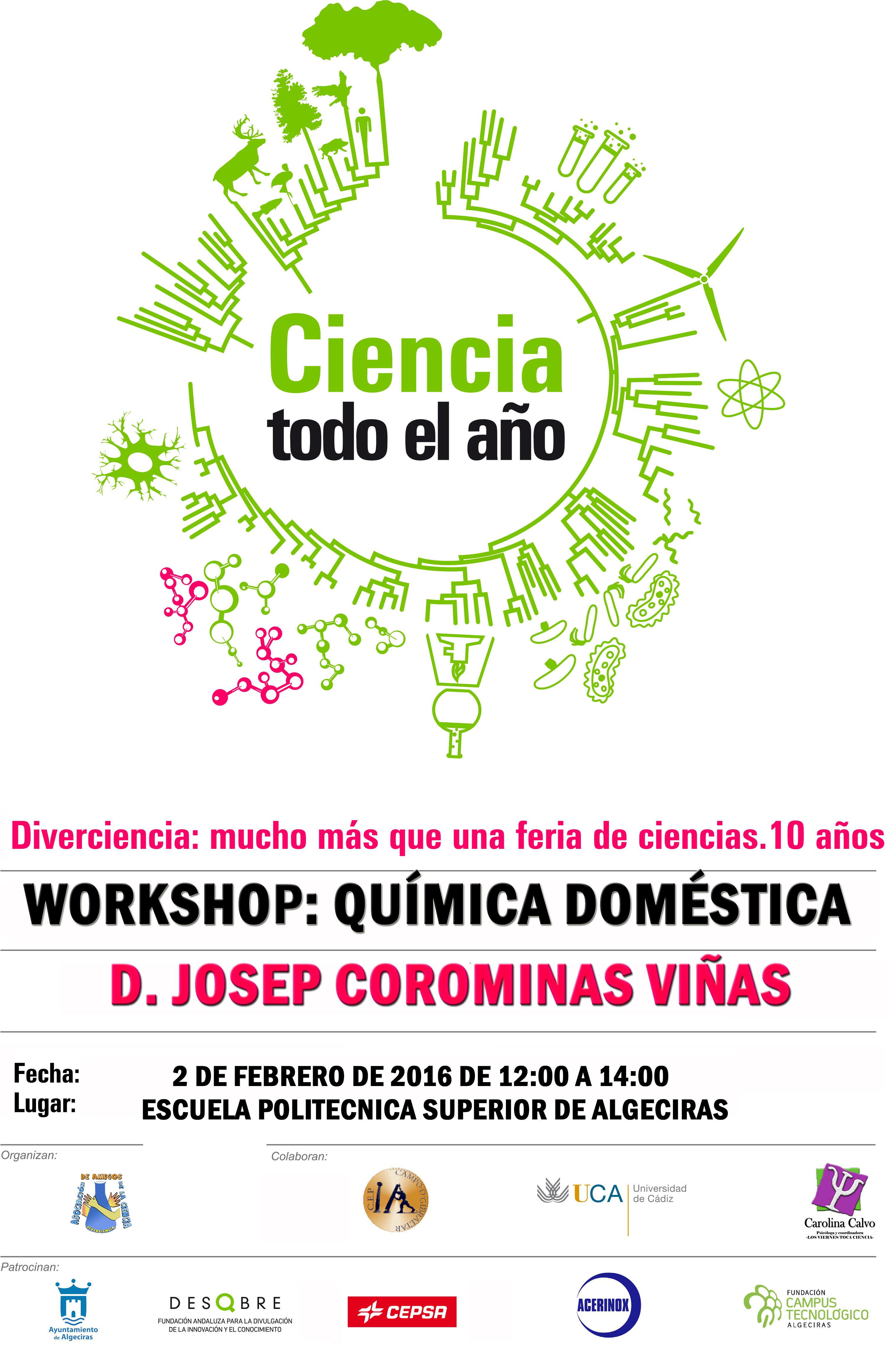 WORKSHOP: QUíMICA DOMÉSTICA