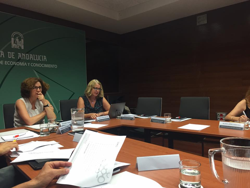 Reunión enriquecedora  en la Consejería de Innovación con la Fundación Desqbre y la Consejería de Educación.