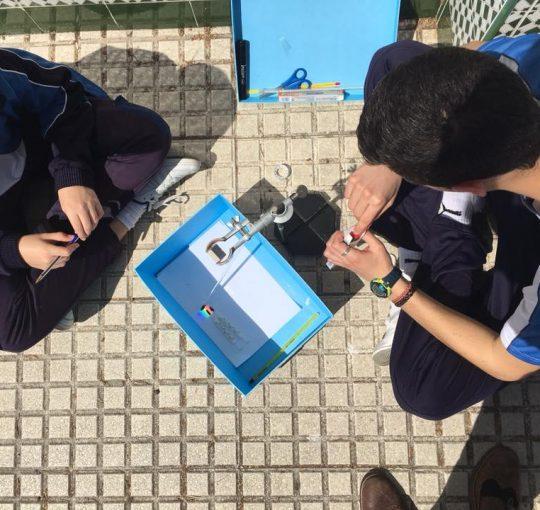 Experimentos realizados por Juan Prieto y sus alumnos del colegio Huerta de la Cruz