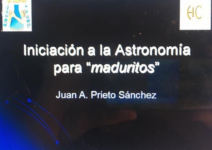 """INICIACIÓN A LA ASTRONOMÍA PARA """"MADURITOS"""""""