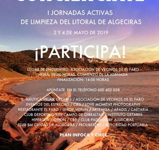 I JORNADAS ACTIVAS DE LIMPIEZA DEL LITORAL DE ALGECIRAS