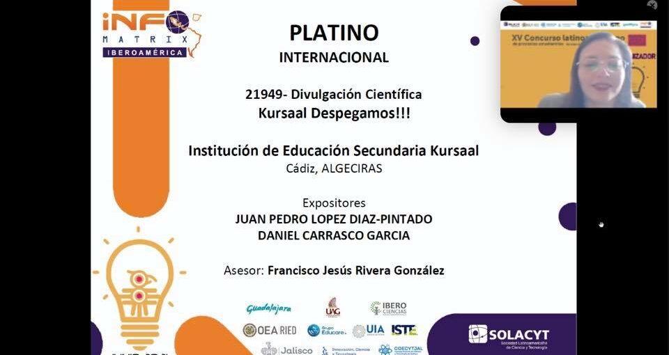 "MEDALLA DE PLATINO PROYECTO ""KURSAAL DESPEGA"", INFOMATRIX IBEROAMÉICA"
